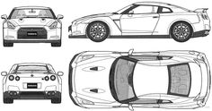 Nissan skyline r35 blueprint #7