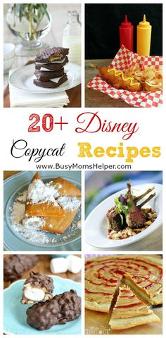 20+ Disney Copycat Recipes / by Busy Mom's Helper
