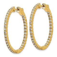 Lab Grown Diamond In and Out Hoop Earrings 1.96 CTW, VS SI1