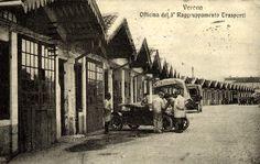 Officina del 3° Raggruppamento Trasporti http://www.veronavintage.it/verona-antica/cartoline-storiche-verona/officina-3-raggruppamento-trasporti