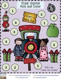 Polar Express- 3 Roll and Cover Games {FREE}