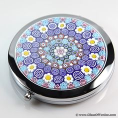Murano Millefiori Folding Double Sided Compact Mirror