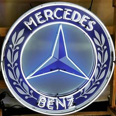 Neon three-pointed star for sale at the Boca Raton Concours d'Elegance / Photography by rodgerdodge (instagram) / #mb #mblogo #threepointed #star Mb Logo, Mercedes Benz Logo, Garage, Neon, Stars, Photography, Instagram, Autos, Carport Garage