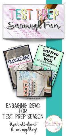 School testing is right around the corner and many teachers are frantically scurrying to find activities to prep their students. In my classroom each year test prep becomes a drill and kill activity that I dread, so I know my students dread it as well. What if there was a way to prep for the upcoming state tests with out the drill and kill? In this post, I will share three ways you can make the test prep season more enjoyable and engaging for your students all while maintaining the rigor…
