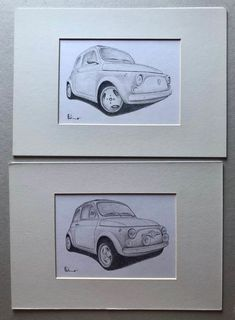Two original Fiat 500 Abarth designs - - Catawiki Unique Drawings, Fiat 500, Contemporary Art, Classic Cars, Auction, The Originals, Design, Modern Art, Design Comics