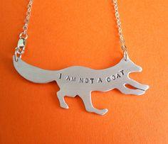 I Am Not a Coat Fox Pendant <3 by crobinsondesign on Etsy #fox #animal #rights