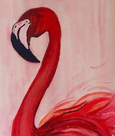 Flamingo (part of the painting )  Acryl on canvas 120x40cm Painted by me, Assie 🤗