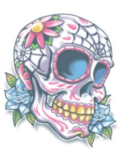 Tattoo FX - Day of the Dead Tattoos - Tinsley Transfers Inc.