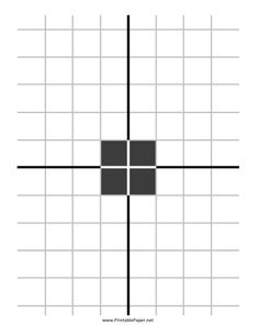 This black and white square grid target is great for cheap printing, making it an excellent option for large groups of shooters. Center lines make crosshair alignment easy, so this is a good option even for inexperienced shooters. Free to download and print