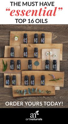 16 pure, therapeutic grade essential oils perfect for aromatherapy, diffusing, and making your own homemade bath and body, cosmetic, and household cleaning products. Get yours today!
