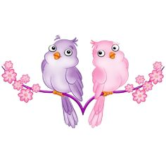 Love Birds - Birds Clip Art