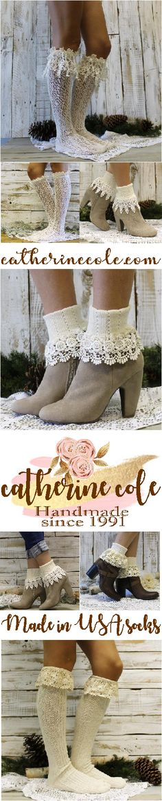 Made in USA ivory lace socks. Over 30 styles to obsess over. How will you choose? Lace Socks, Lace Cuffs, Fashion 2017, Trendy Fashion, Autumn Fashion, Socks For Flats, Shoe Nails, Bellisima, Ivory