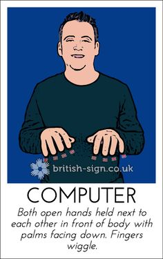 Today's British Sign Language sign is: COMPUTER - find out more at www.british-sign.co.uk #BSL #BritishSignLanguage