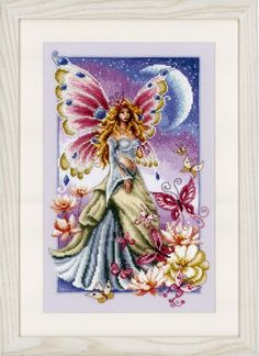 Telpakket Fee met vlinders en maan