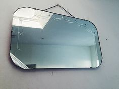 Art Deco Vintage Frameless Mirror with draped by ReclecticEmporium
