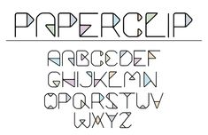 Paperclip font on Behance
