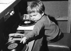 Youngest  DJ Spinning  Vinyl ! , Record ,