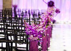 magnificent purple down the aisle