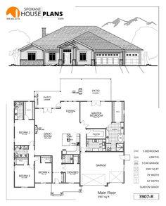 Interior and Exterior Metal Building Pics. Open House Plans, House Layout Plans, House Layouts, House Floor Plans, Metal Building Homes, Building Plans, Building A House, Open Concept Floor Plans, House Blueprints