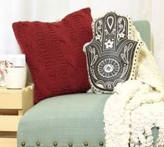 Hamsa Hand Pillow