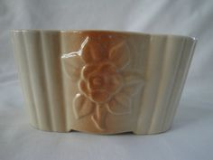 American Bisque Planter with Rose/1950's by TheVillageCorner
