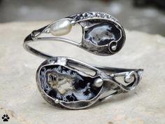 Acháty peříčkové a říční perla - náramek