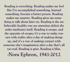 Nora Ephron on reading