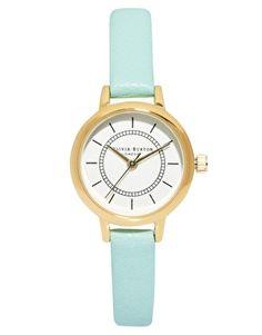 Agrandir Olivia Burton - Montre style vintage à bracelet en cuir turquoise