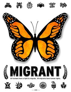 All humans have a right to migrate. All migrants have #humanrights.  from artist Cesar Maxit #Migration #Art4Change