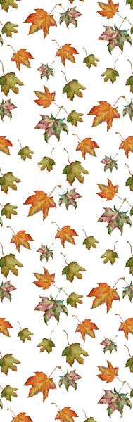 3D Printed T-Shirts Beautiful Patterrn of Autumn Leaves Berries Wild Flowers On