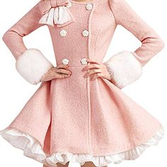 Partiss Women's Sweet Pink Lolita Overcoat Lace Dress, Chinese L, Pink Partiss http://www.amazon.com/dp/B019SSACH0/ref=cm_sw_r_pi_dp_tQq1wb13E3AXD