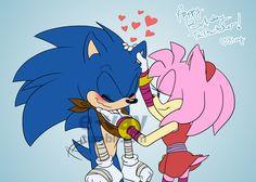 Sonic Boom, Sonic Y Amy, Sonic The Hedgehog, Hedgehog Art, Amy Rose, Sonamy Comic, Sonic Funny, Sonic Franchise, Sonic Heroes