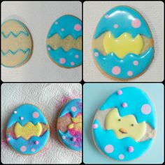 Decorating the Easter Egg Cookie
