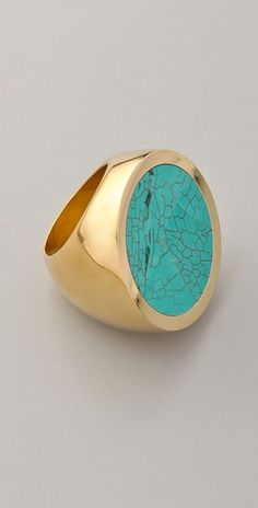 I love big rings.  How can you go wrong with gold & turquoise!