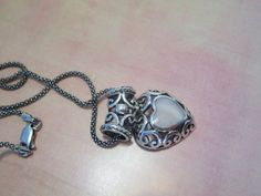 Sterling Silver 925 Necklace with Heart Pendant by LeTreasurelat, $65.00