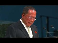 Full Speech - Ri Yong Ho, Minister for Foreign Affairs of the Democratic People's Republic of Korea, addresses the general debate of the Session of the . North Korea, Us Presidents, Affair, Politics, Korean, Watch, News, People, Clock