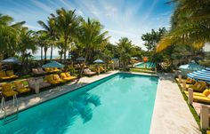Take a dip at one of Miami Beach's newest hotels in The Confidante Miami Beach's two heated outdoor pools