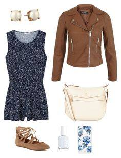 """""""Untitled #486"""" by kmysoccer on Polyvore featuring MANGO, Essie, Miss Selfridge, Steve Madden, Nica, Kate Spade and Sonix"""
