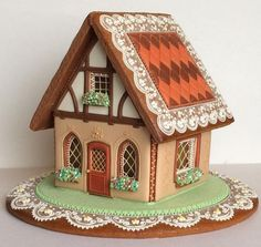 A gingerbread house is sooo adorable and pretty! But these incredible ones take gingerbread houses to the next level! Gingerbread House Designs, Christmas Gingerbread House, Gingerbread Man, Gingerbread Cookies, Christmas Cookies, Christmas Baking, Christmas Crafts, Cookie House, Cookie Decorating
