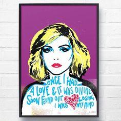 Blondie 'Heart of Glass' Lyrical Wall Art Print