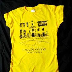 Silkscreen t shirts for Casa de Colón Shop in Gran Canaria