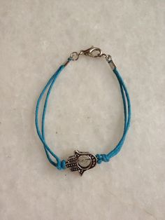 Thread Bracelet with one pendant by hebaalayyan on Etsy, $8.00