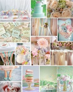 THEMED THURSDAY: PRETTY PASTELS on http://intertwinedevents.com    These pastels are so beautiful together. Perfectly sweet!