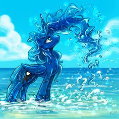 Luna; best pony. I always wondered how her mane was. Sometimes it looks solid…