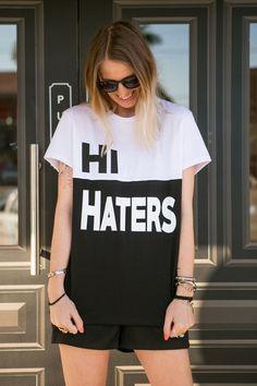Camiseta Feminina Hi Haters - 787 Shirts