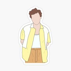 'Harry Styles outline (yellow)' Glossy Sticker by StilesStyles One Direction Drawings, One Direction Art, Harry Styles Cute, Harry Styles Pictures, Printable Stickers, Cute Stickers, Harry Styles Zeichnung, Desenho Harry Styles, Desenhos One Direction