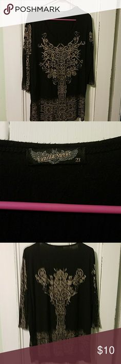 Vanilla star 3/4 sleeve top Great shape wish it still fit! Vanilla Star Tops
