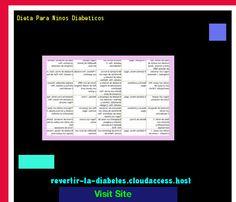 Dieta Para Ninos Diabeticos 190420 - Aprenda como vencer la diabetes y recuperar su salud.