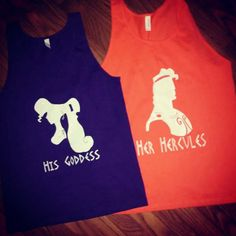 His Goddess and Her Hercules Shirts Disney Inspired Couples