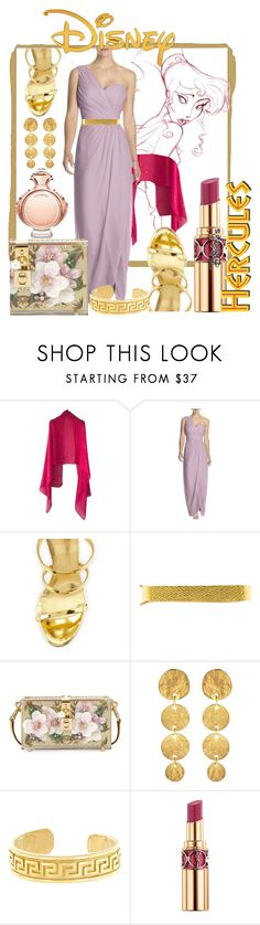 """disney Megara look"" by iandcheshirecat on Polyvore featuring moda, Disney, Louis Vuitton, Dessy Collection, Giuseppe Zanotti, Andrew Clunn, Dolce&Gabbana, Kenneth Jay Lane, BillyTheTree e Yves Saint Laurent"